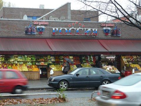 Russischer 24-Stunden-Markt am S-Bahnhof Charlottenburg